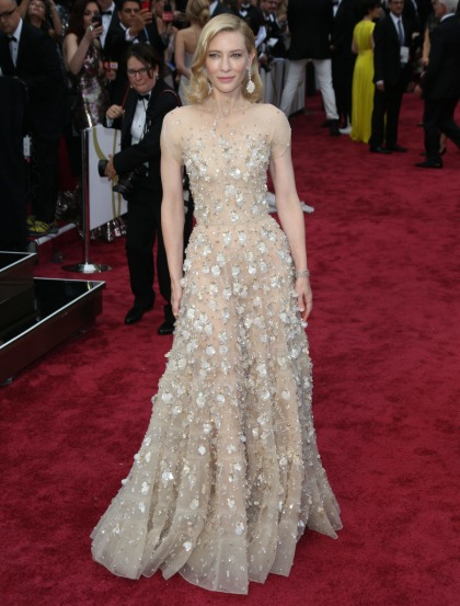 Cate Blanchett in bejeweled Armani at the Oscars: gorgeous or too fussy?