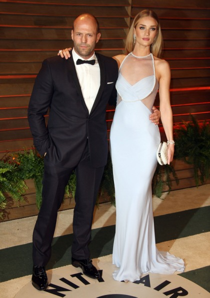 Rosie Huntington-Whiteley in Cushnie et Ochs at the VF party: pretty or cold?