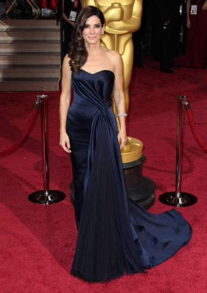 Sandra Bullock in Alexander McQueen at the Oscars: regal or over the top?