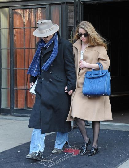 Johnny Depp wears a man-gagement ring for Amber Heard: sweet or strange?