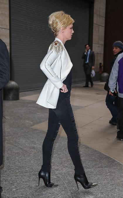 January Jones Goes 1980s Glam in Manhattan