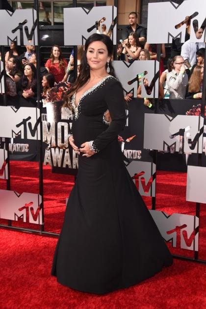 Jenni 'JWoww' Farley Brings Baby Bump to 2014 MTV Movie Awards