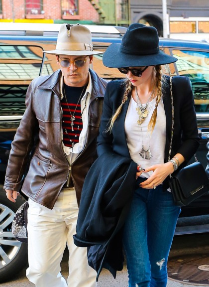 Johnny Depp & Amber Heard step out in NYC: somber or normal?