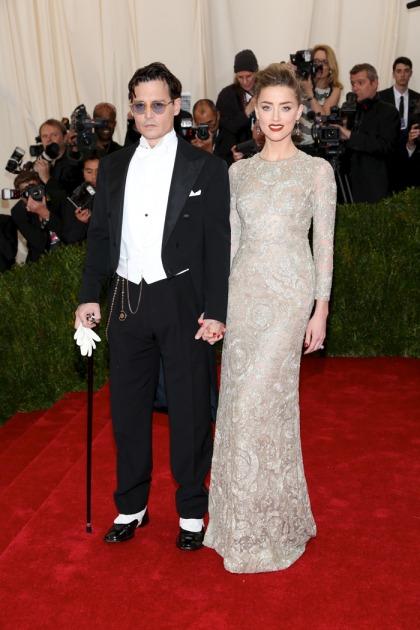 Amber Heard in Giambattista Valli & Johnny Depp at Met Gala: sweet or weird?