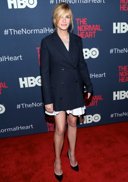 Julia Roberts in Dior at NYC 'Normal Heart' premiere: lovely or unflattering'