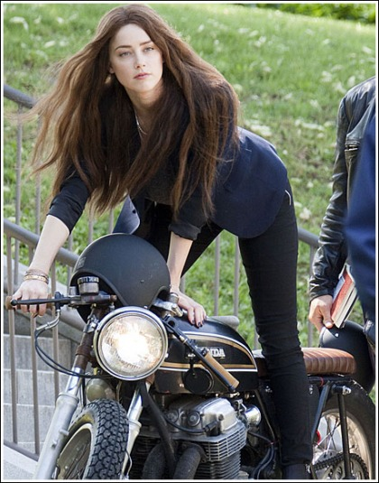 Amber Heard Gets The Engines Running!