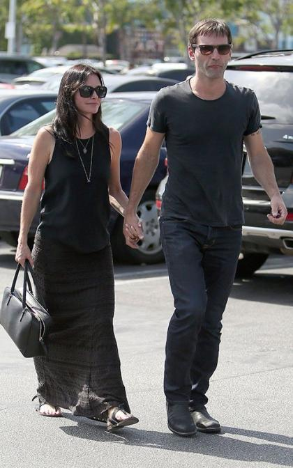 Courteney Cox & Johnny McDaid Get Together at The Grove