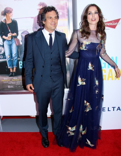 Keira Knightley in Valentino at the 'Begin Again' premiere: flattering or fug'