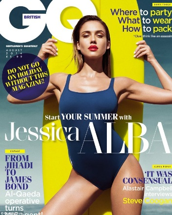 Jessica Alba Looks Smoking Hot on the Cover of GQ UK magazine August 2014