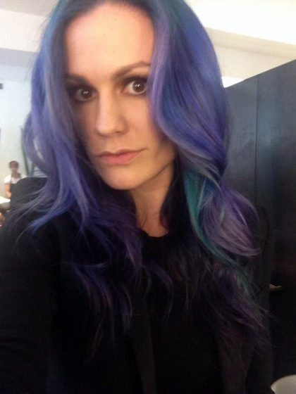 Anna Paquin dyed her hair 'mermaid' purple, blue & green: awesome'