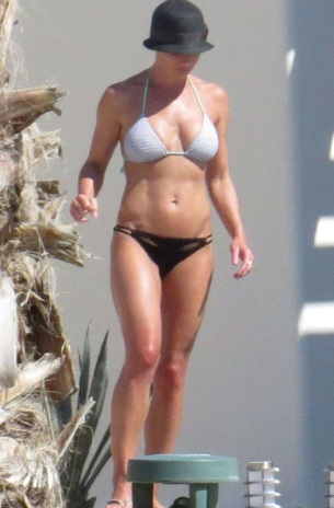 Jaime Pressly Tiny Bikini on Vacation in Cabo