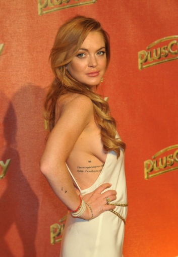 Lindsay Lohan Sdeboob at The White Party in Austria