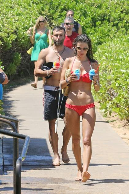 Alessandra Ambrosio: Bikini Beach Fun in Hawaii
