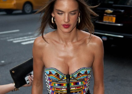 Alessandra Ambrosio's Perfect Little Funbags Make An Appearance