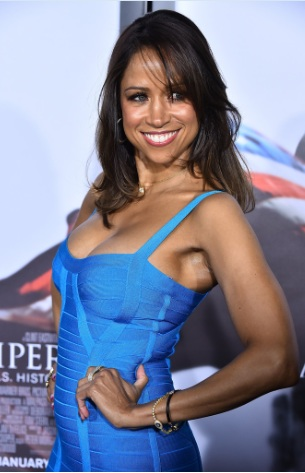 Stacey Dash Cleavy at American Sniper Premieres in NYC