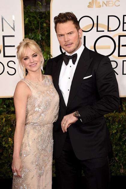 Chris Pratt & Anna Faris Make Merry on the 2015 Golden Globes Red Carpet