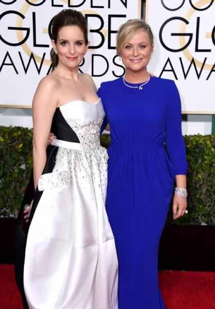 Amy Poehler & Tina Fey Arrive for 72nd Golden Globes Hosting Duties!