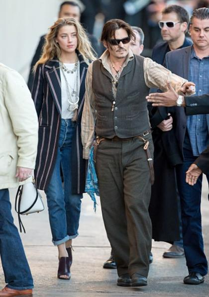 Johnny Depp & Amber Heard: 'Jimmy Kimmel Live' Lovers