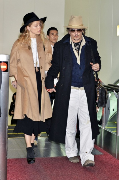 Johnny Depp & Amber Heard step out in Japan after 'Mortdecai' flops