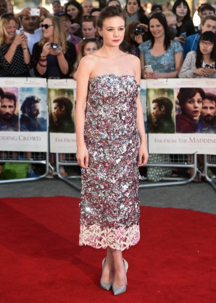 Carey Mulligan in Dior at the 'Madding Crowd' premiere: lovely or unflattering'