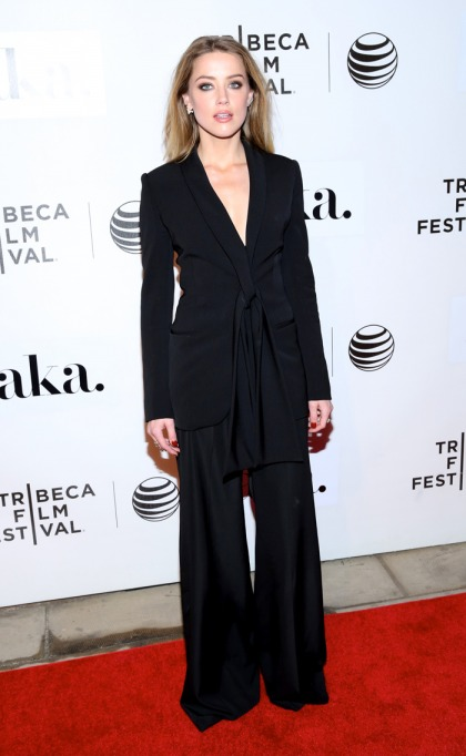 Amber Heard in a Stella McCartney suit at Tribeca: stunning or sloppy?