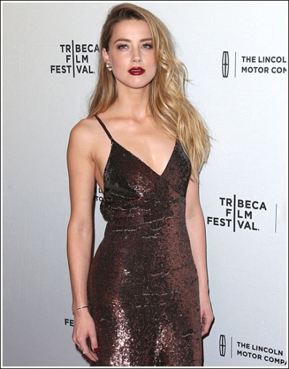 Amber Heard Gets Sexy And Chesty For The Tribeca Film Festival