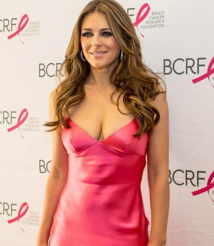 Elizabeth Hurley Busts Out Big Time For Charity