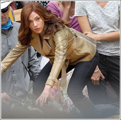Scarlett Johansson Gets The Engines Running On The Set Of 'Captain America: Civil War'