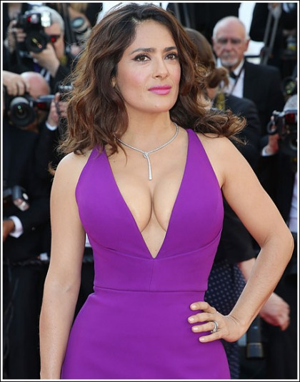 Salma Hayek Busts Out The Most Amazing Cleavage You?ll Ever See' And Drool Over!