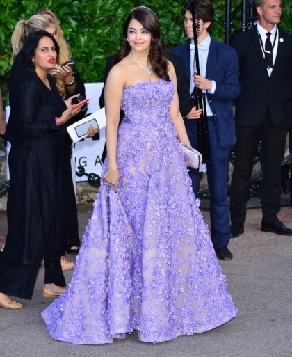 Aishwarya Rai in lilac Elie Saab at Cannes amfAR gala: beautiful or boring?