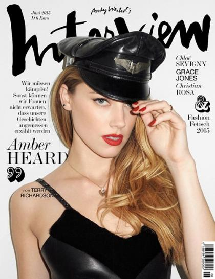Amber Heard Brings Some Sex Appeal to Interview Magazine