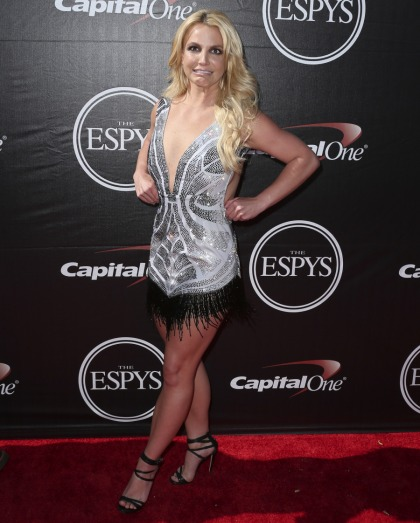 Britney Spears in Davidson Zanine at the ESPYs: ice-skater fug or adorable?