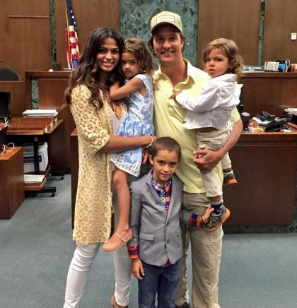 Matthew McConaughey & Camila Alves celebrate her American citizenship