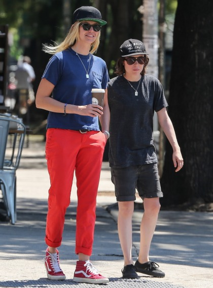 Ellen Page got pap?d with her tall, blonde surfer girlfriend of seven months