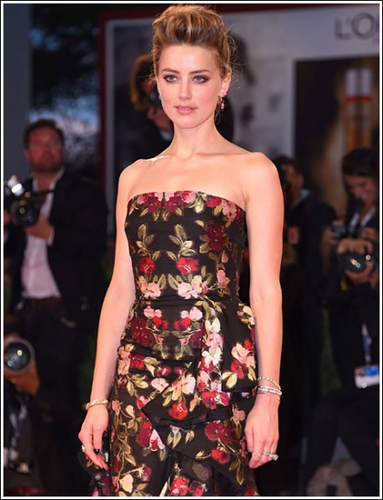Amber Heard Unleashes Her Stunning Sexiness For The Venice Film Festival