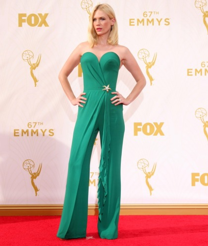 January Jones in an Ulyana Sergeenko jumpsuit at the Emmys: stunning?