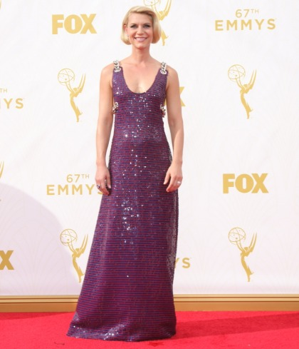 Claire Danes in chained Prada at the Emmys: beautiful or budget?