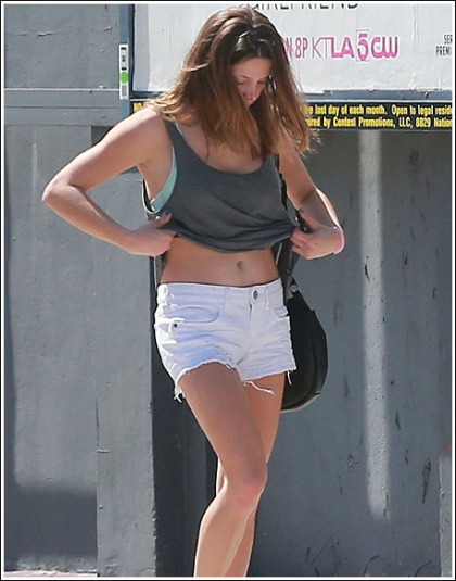 Ashley Greene Flashes Her Sexy Midriff And Killer Legs