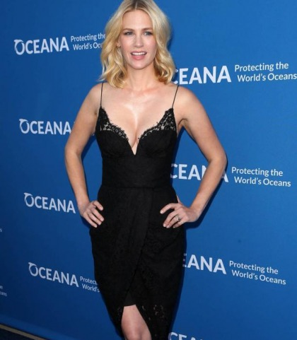 January Jones' Cleavage Show