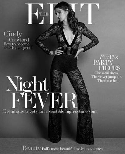 Cindy Crawford Cranks Up the Charm on the Cover of The Edit
