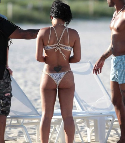 Christina Milian's Juicy Booty In A Bikini