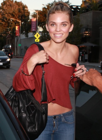 Annalynne McCord Booty Shopping on Melrose Avenue
