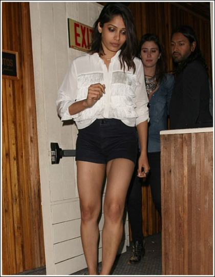 Freida Pinto Gets Seriously Leggy