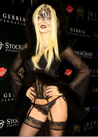 AnnaLynne McCord Lingerie at Carlton's Halloween Nightmare in Beverly Hills