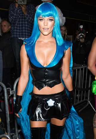 Nina Agdal Hot Damn at Heidi Klum Halloween Party in NY