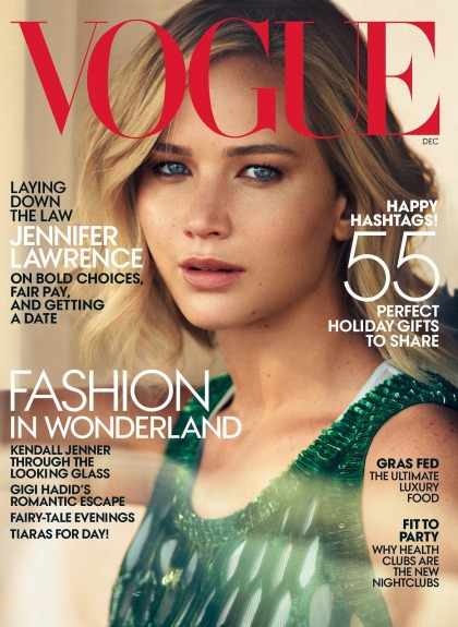 Jennifer Lawrence covers Vogue, talks politics, sex, Kris Jenner & more