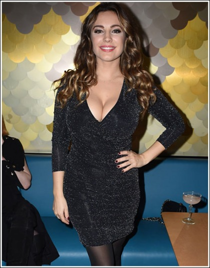 Kelly Brook Drops Some Serious Mega Cleavage