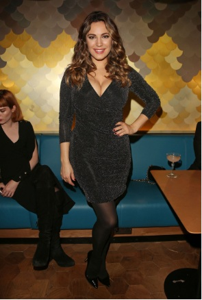 Kelly Brook Major Cleavage at Ping Pong restaurant launch & Christmas party