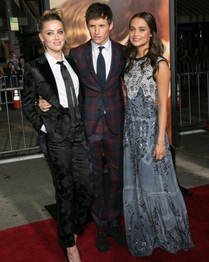 Amber Heard in Dolce & Gabbana at LA 'Danish Girl' premiere: lovely or tragic'