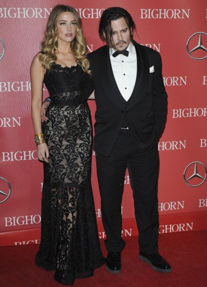Johnny Depp & D&G-clad Amber Heard at the PSIFF: drunk, lovely or both?